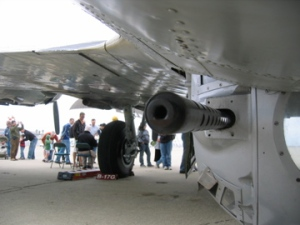 B-17 Belly turret machine gun muzzle
